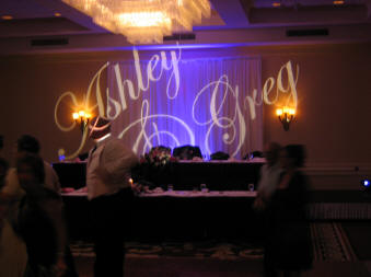 Customize your wedding reception with Gobo lights