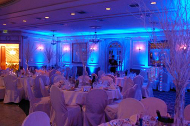 Add a touch of elegance to your wedding reception with soft uplights